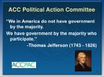 acc political action committee