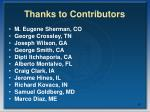 thanks to contributors