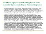 the metamorphosis of the banking sector from industrial capitalism to hyper financial capitalism