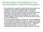 the metamorphosis of the banking sector from industrial capitalism to hyper financial capitalism1