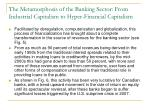 the metamorphosis of the banking sector from industrial capitalism to hyper financial capitalism5