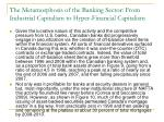 the metamorphosis of the banking sector from industrial capitalism to hyper financial capitalism6