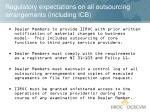 regulatory expectations on all outsourcing arrangements including icb