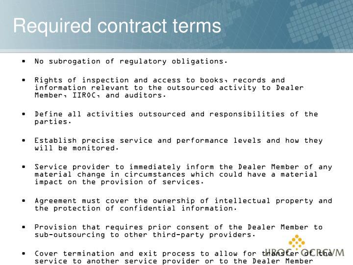 No subrogation of regulatory obligations.