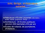 arts design architecture notariat