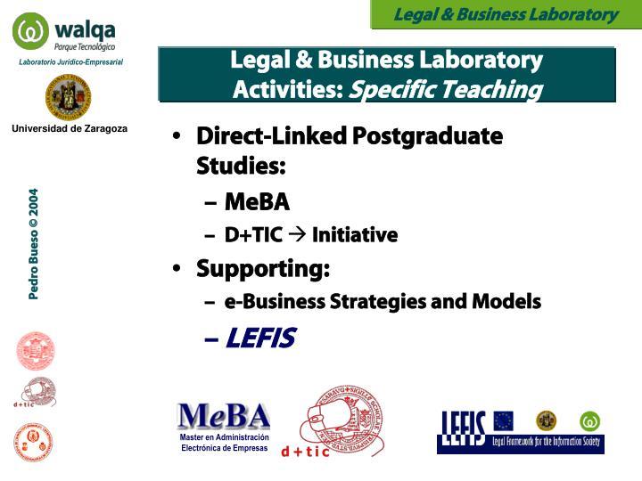 Direct-Linked Postgraduate Studies: