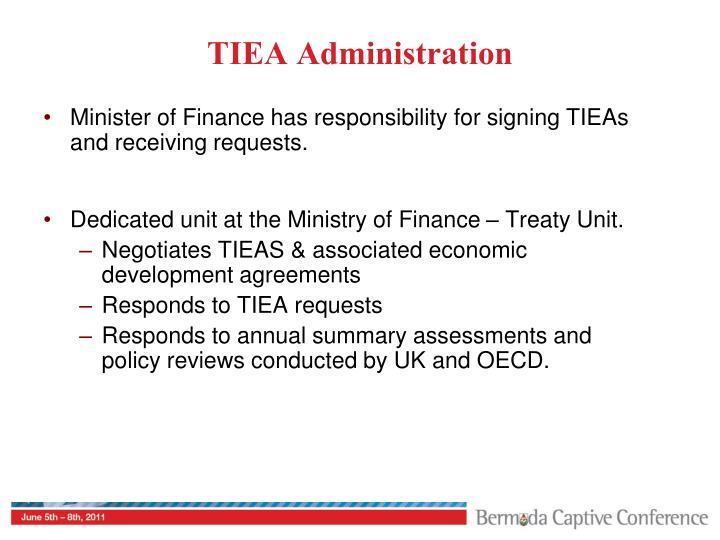 TIEA Administration