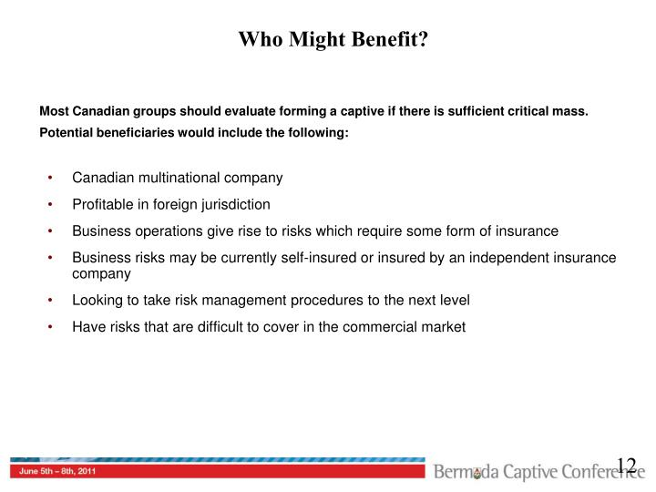 Who Might Benefit?