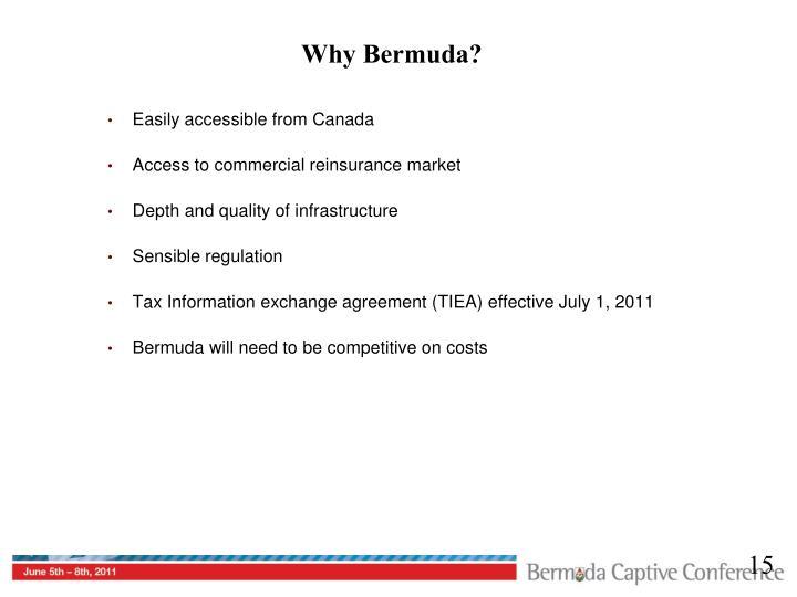 Why Bermuda?
