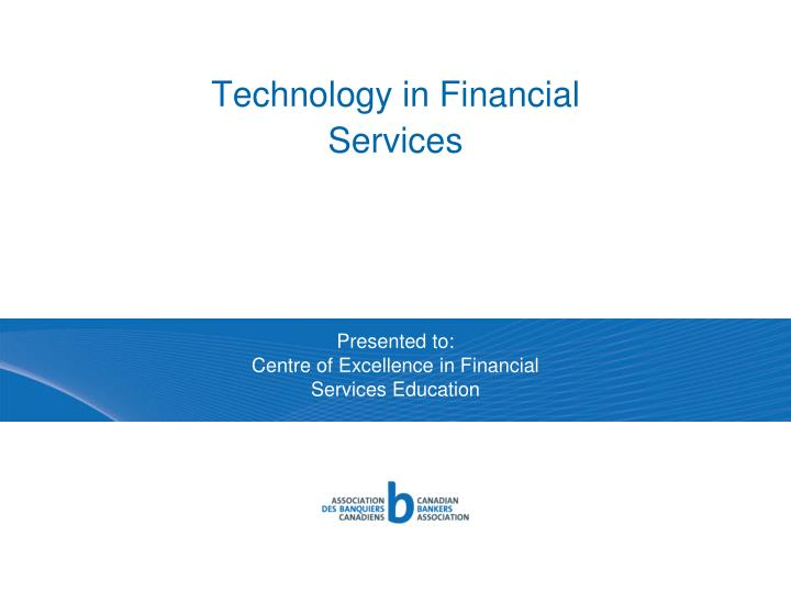 technology in financial services n.