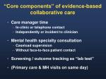 core components of evidence based collaborative care