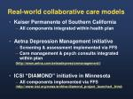 real world collaborative care models