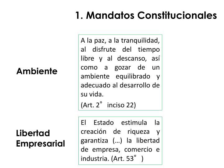 1. Mandatos Constitucionales