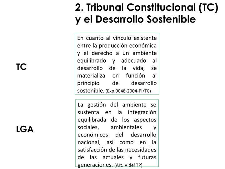 2. Tribunal Constitucional (TC) y el Desarrollo Sostenible