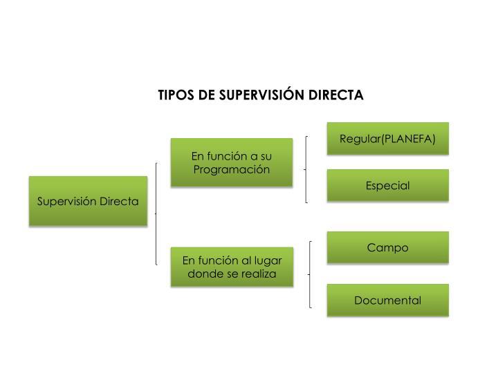 TIPOS DE SUPERVISIÓN DIRECTA