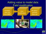 adding value to model data field modification