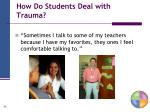 how do students deal with trauma
