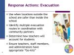 response actions evacuation