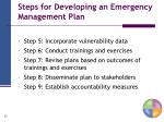 steps for developing an emergency management plan1