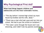 why psychological first aid