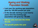 ageing and working population growth