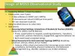 design of mds3 observational study