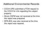 additional environmental records