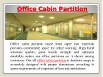 office cabin partition