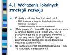 4 1 wdra anie lokalnych strategii rozwoju