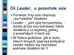 o leader a pozosta e osie