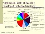 application fields of recently developed embedded systems
