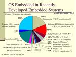 os embedded in recently developed embedded systems