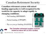 canadian retirement security