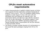 cplds meet automotive requirements