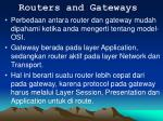 routers and gateways