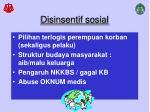 disinsentif sosial