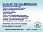 nonprofit partners nationwide