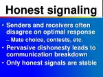 honest signaling