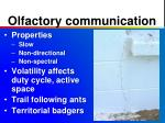 olfactory communication
