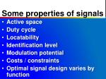 some properties of signals
