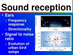sound reception