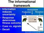 the informational framework
