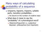 many ways of calculating probability of a sequence1