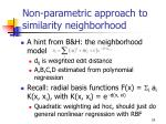 non parametric approach to similarity neighborhood