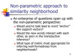 non parametric approach to similarity neighborhood3