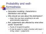 probability and well formedness
