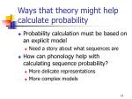 ways that theory might help calculate probability