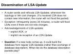dissemination of lsa update