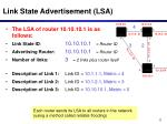 link state advertisement lsa