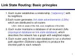 link state routing basic princples